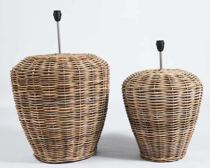 Large rattan lampbase in grey - Hadeda Limited