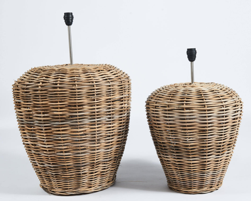 Giant rattan lampbase in grey