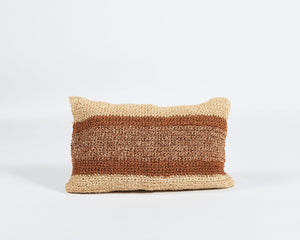 Rectangular Striped Sisal Cushion