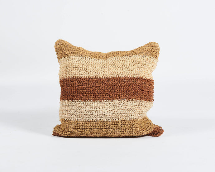 Square Striped Sisal Cushion