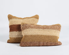 Load image into Gallery viewer, Rectangular Striped Sisal Cushion