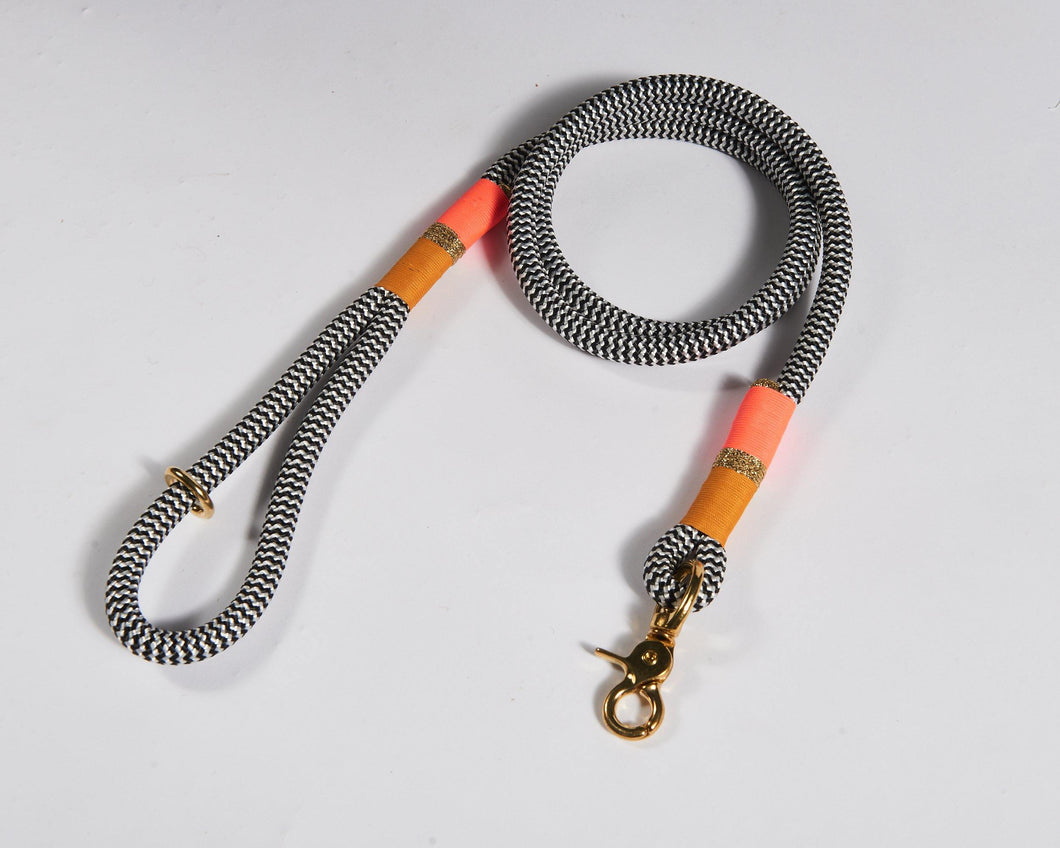 Chommies Orange and Pink Standard Dog Lead