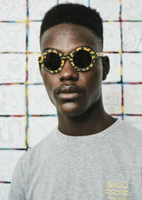 Load image into Gallery viewer, BALLO OLIVE Sunglasses in Yellow African fabric - Hadeda Limited