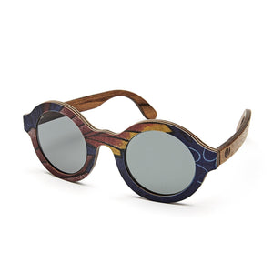 BALLO OLIVE Sunglasses in Red African fabric