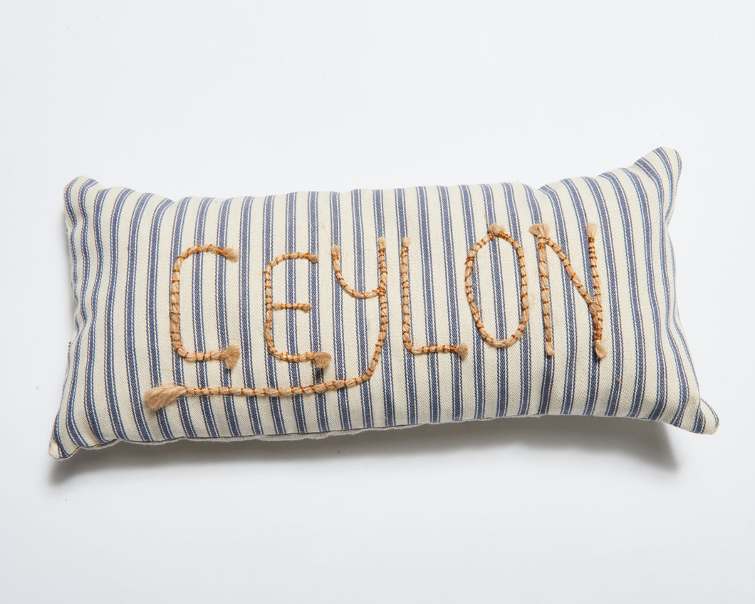 Ceylon Poetry Cushion