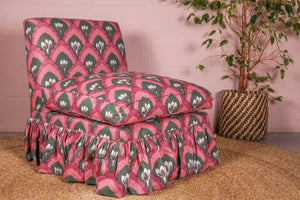 Slipper armchair in Tamburlaine Fabric - IN STOCK - Hadeda Limited