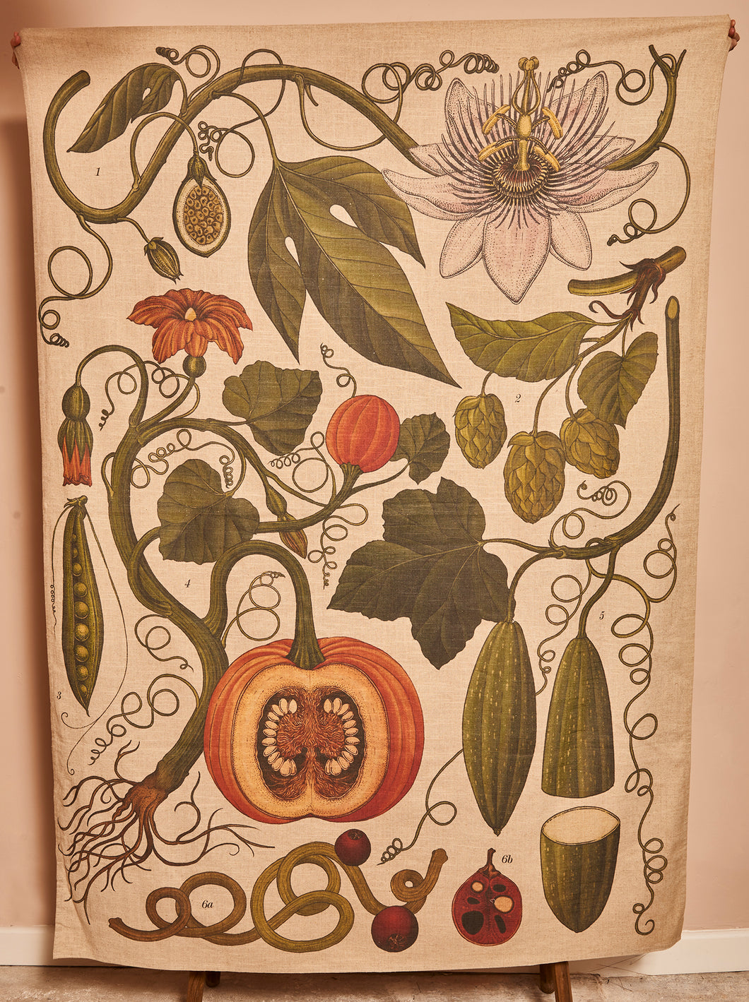 Vine botanical archive print tablecloth