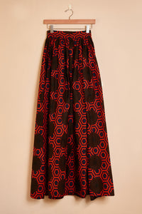 Maxi skirt - red print