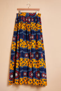 Maxi skirt - stripe print