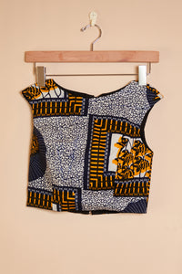 Fitted top - corn print