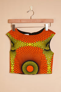 Fitted top - orange print