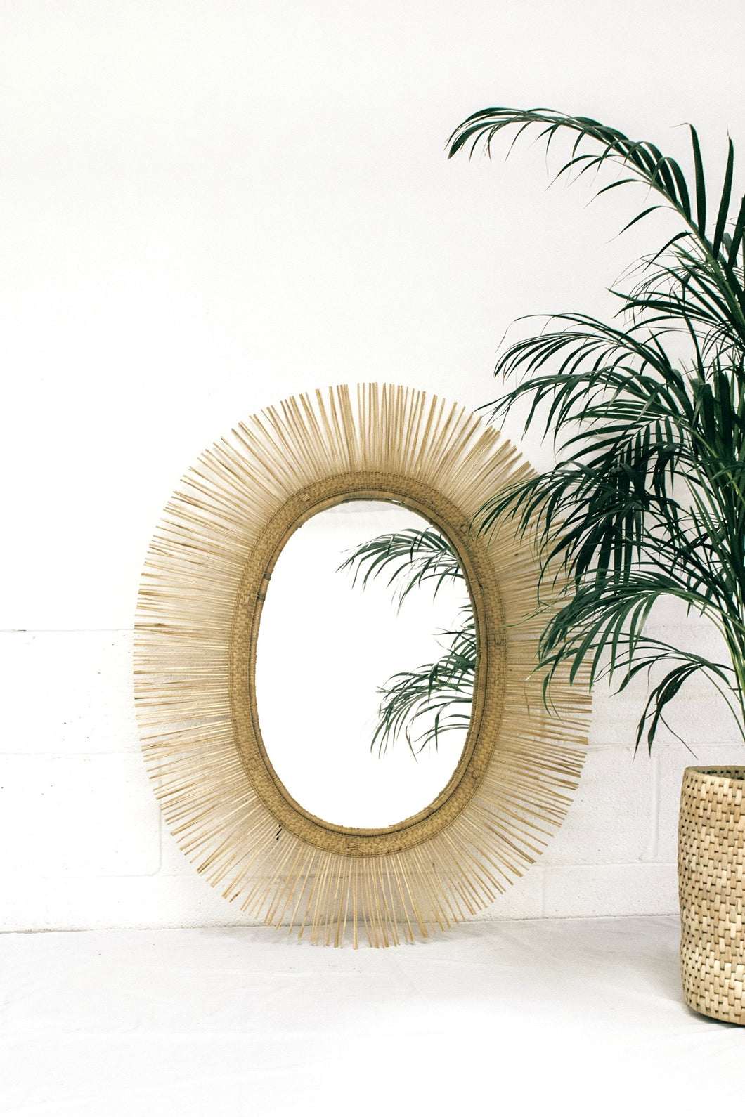 Oval Sun Mirror in natural