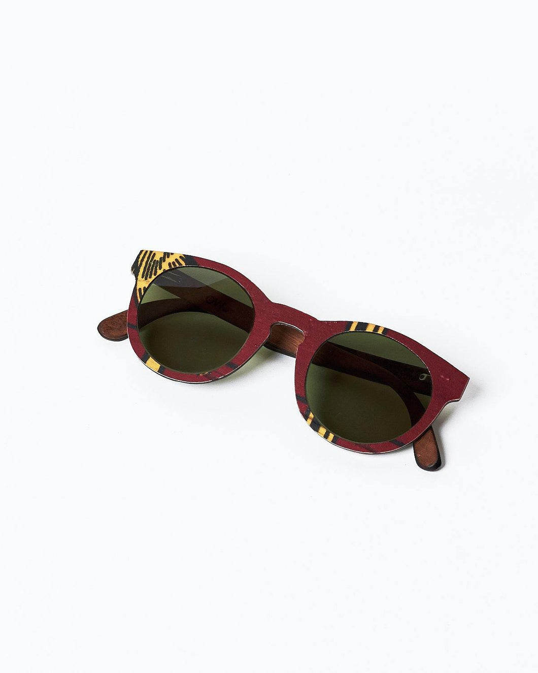 BALLO OWL Sunglasses in Red African fabric