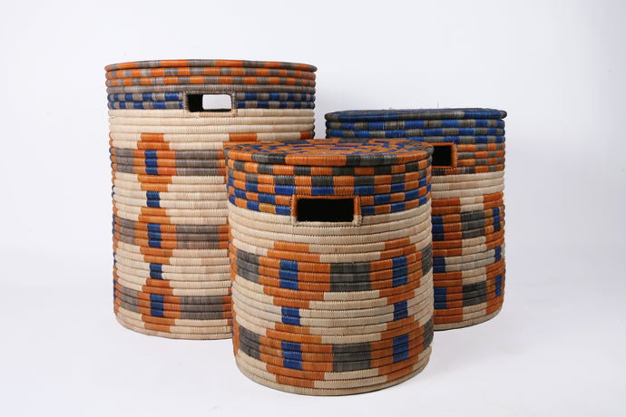 Sunset Storage Baskets with Handles