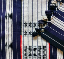 Load image into Gallery viewer, Pezula hand-loomed throw in indigo