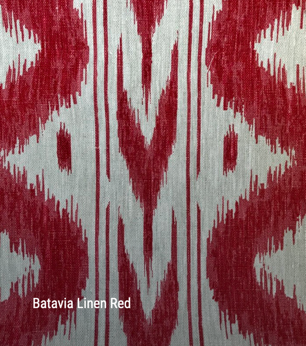 Batavia in Red - by the metre