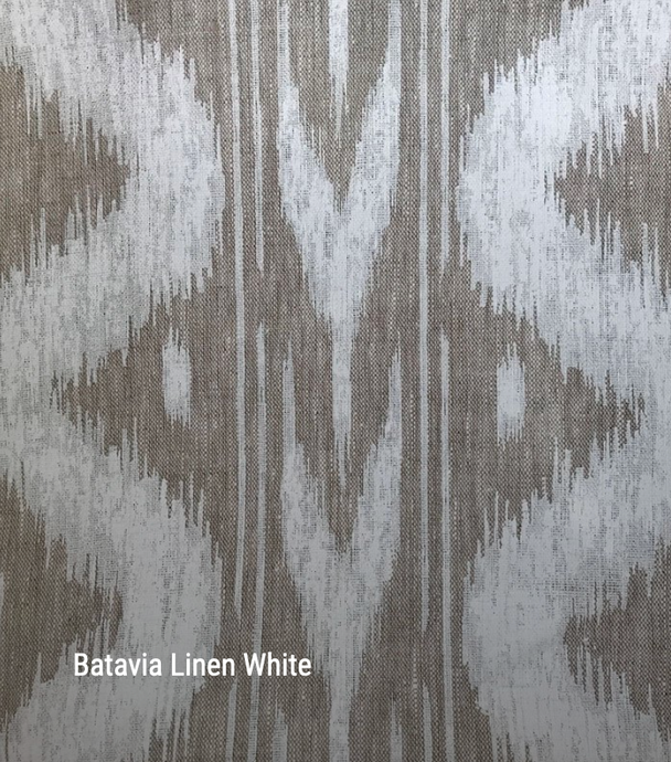Batavia in white - by the metre