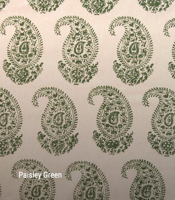 Paisley in green - by the metre