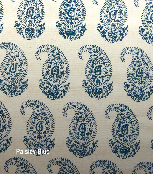 Paisley in blue - by the metre