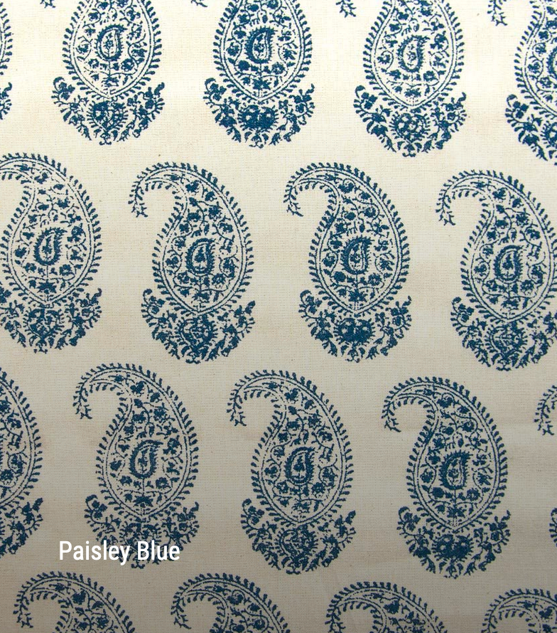 Paisley in blue - by the metre - Hadeda Limited