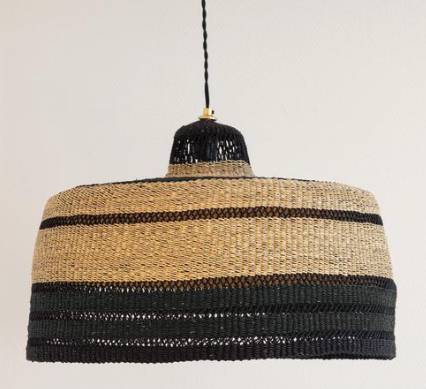 'High Life' Hand Woven Pendant, Large - Midnight