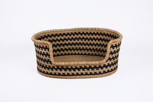 Baba Small Dog Basket in Black and Natural
