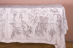 Natural Botanical Print Bed Throw