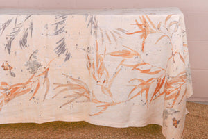 Natural Botanical Print Tablecloth