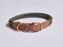 Load image into Gallery viewer, Chommies Extra Large Dog Collar in Olive