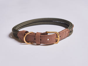Chommies Extra Large Dog Collar in Olive