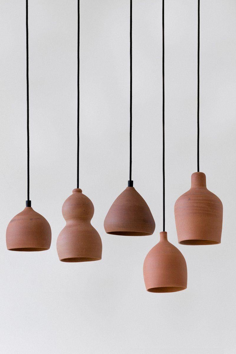 Terracotta Ceramic Pendant Light