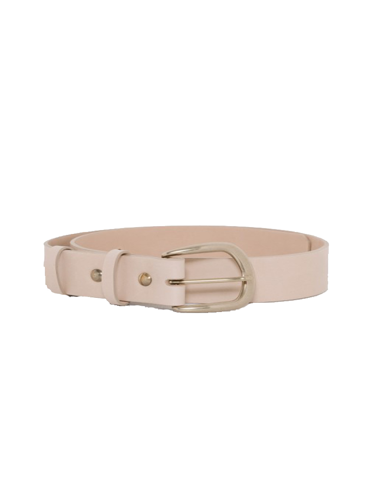 Leather Belt Soft Apricot