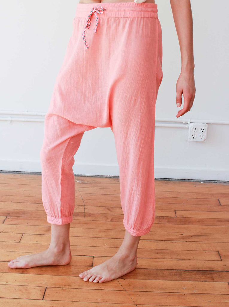 Harem Pants with Braided Tie