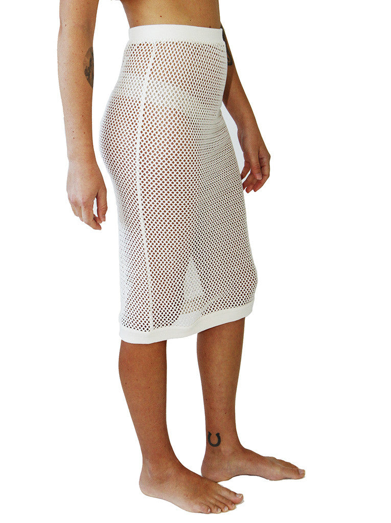 Cotton Mesh Skirt