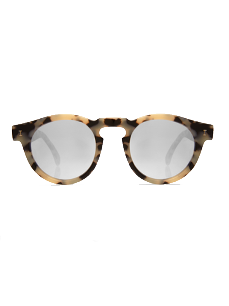 Leonard Sunglasses | Silver Mirrored Tortoise Cream