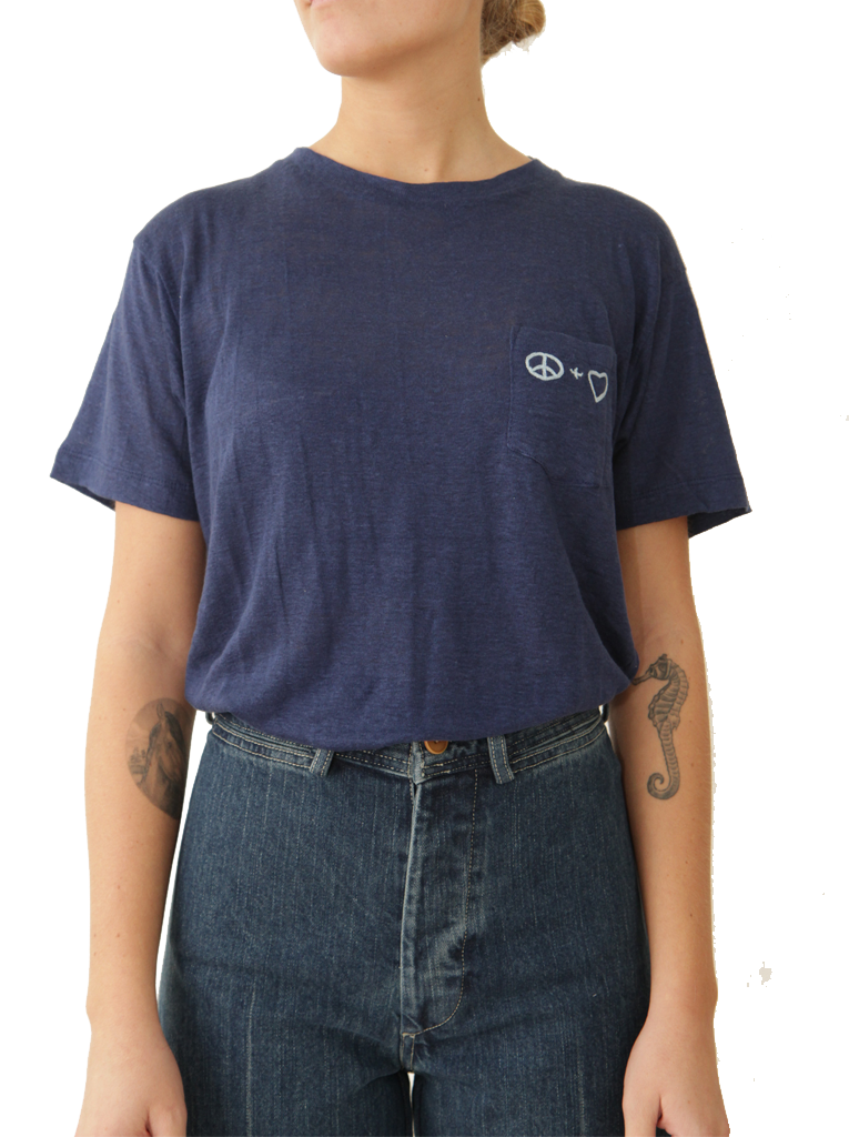 Peace + Love Pocket Tee