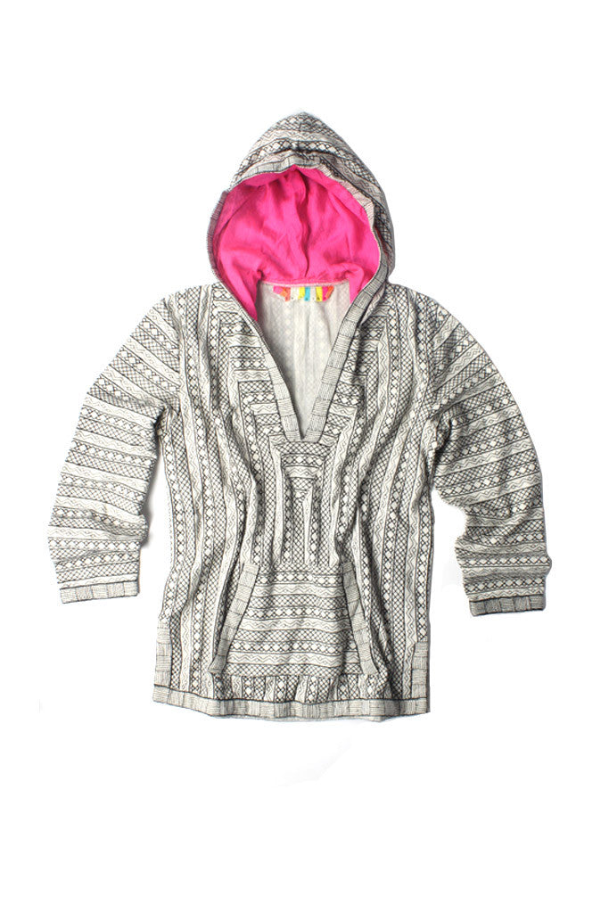 Embroidered Baja Pullover
