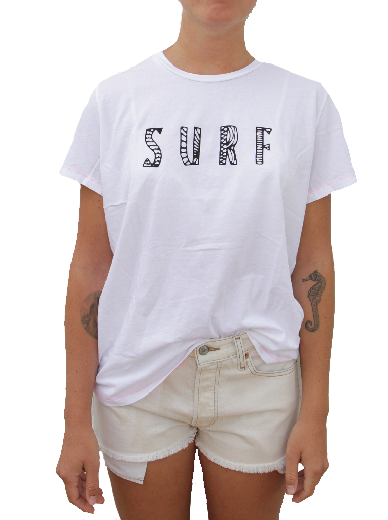 Horizontal Sketch Surf SS Tee