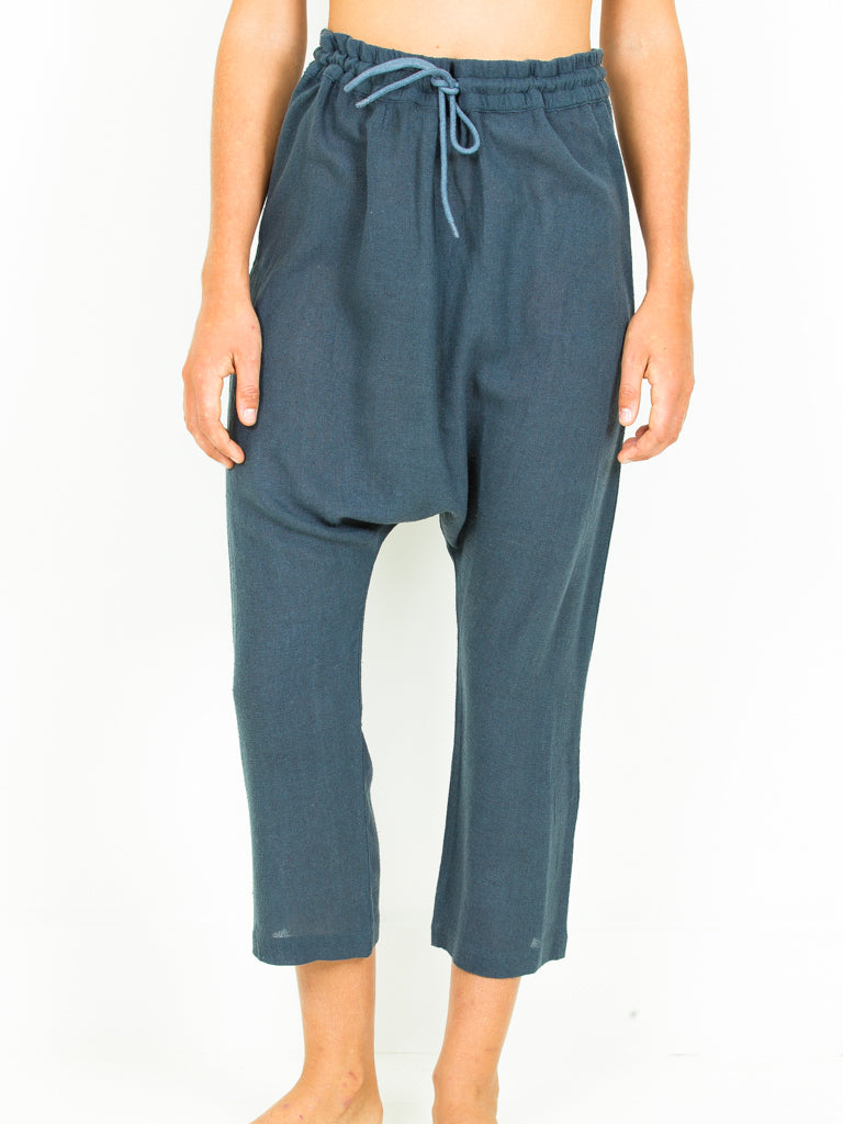 Silk Noile Harem Pant-  2 Colors