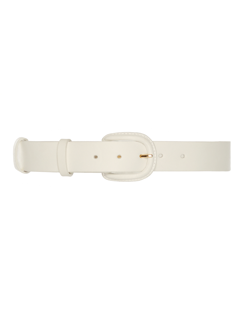Leather Belt White