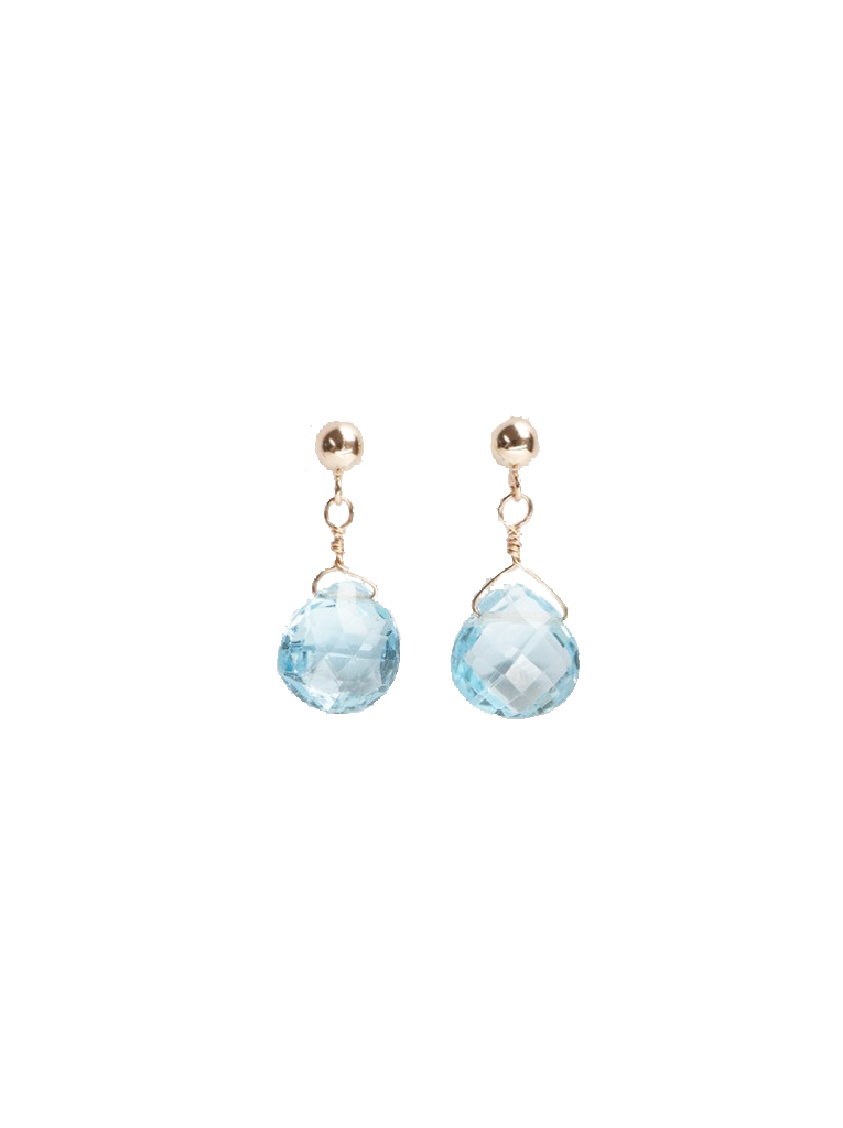Blue Topaz Briolettes Earrings