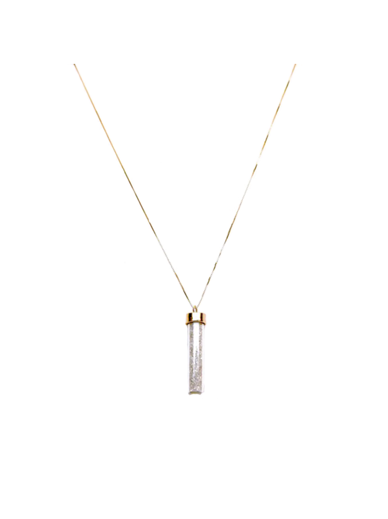 14k Yellow Gold Pendant with Encased Diamonds