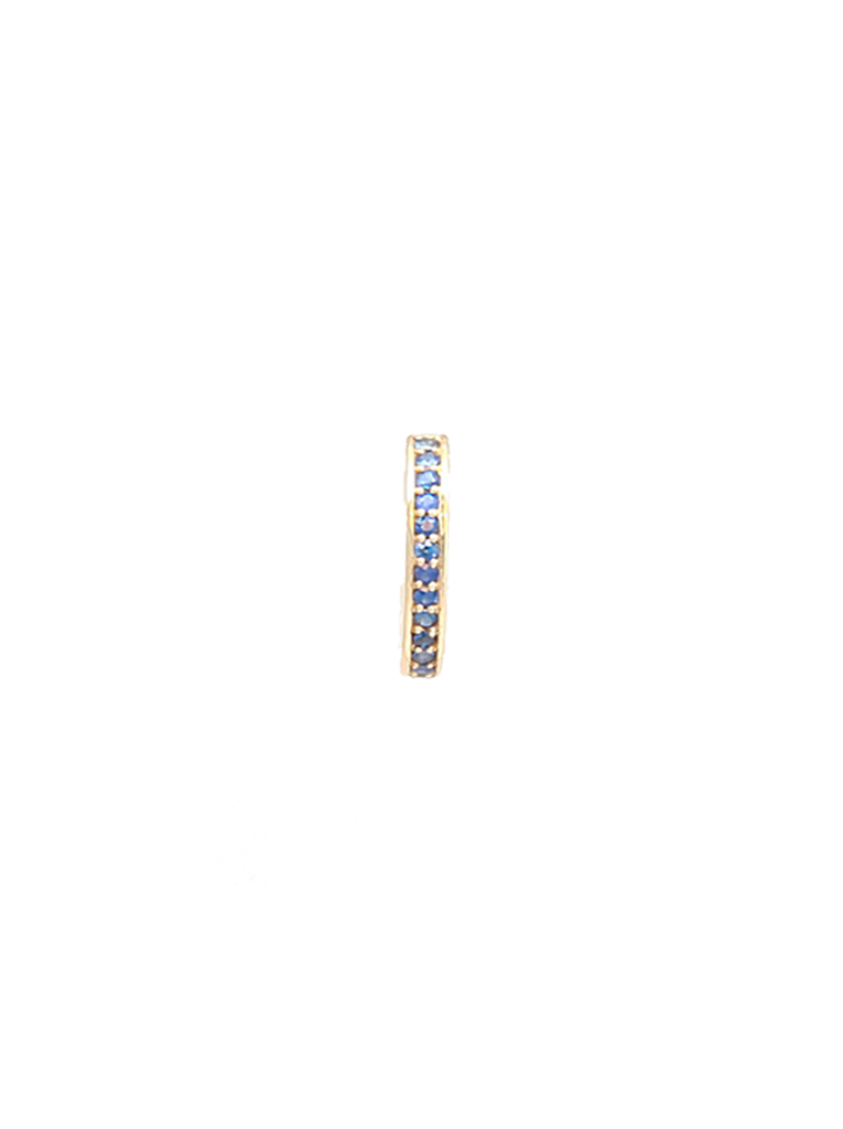 Ear Cuff in 14k Yellow Gold with Sapphires