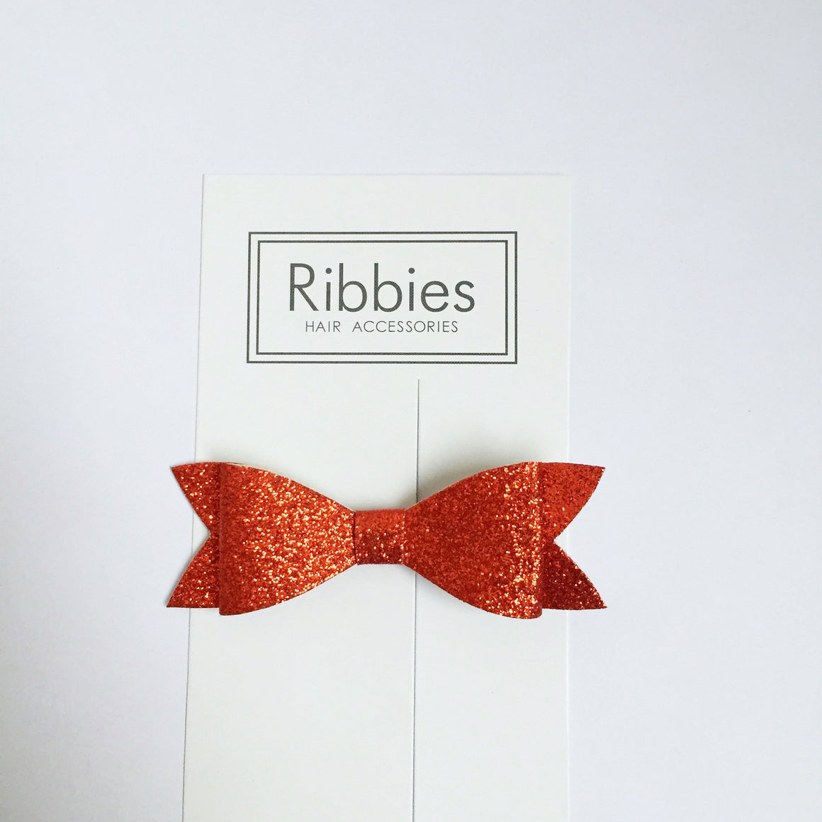 Barrette Noeud à Paillettes - Rouge