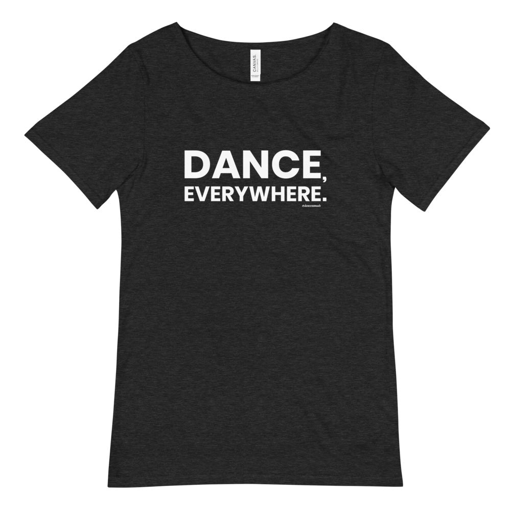 Dance Everywhere Men T-Shirt Scoop Neck Dark Heather Grey