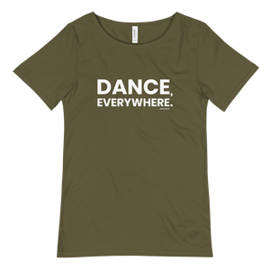 Dance Everywhere Men T-Shirt Scoop Neck Military Green
