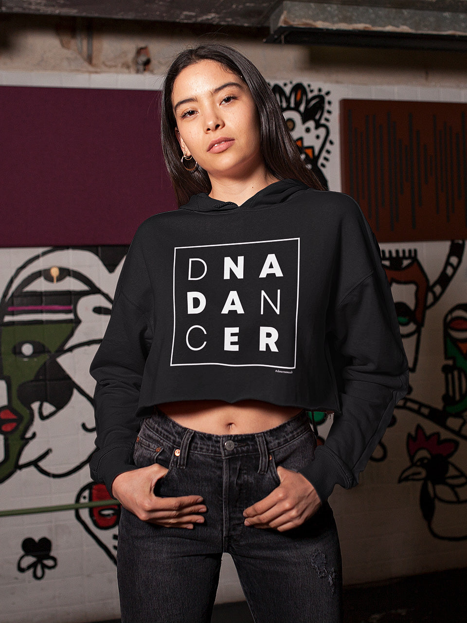 DNA Dancer Cropped Hoodie
