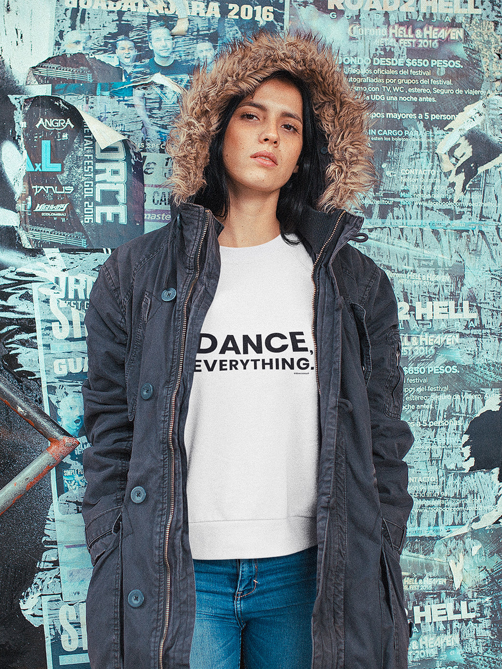 Dance Everything Unisex Sweater White