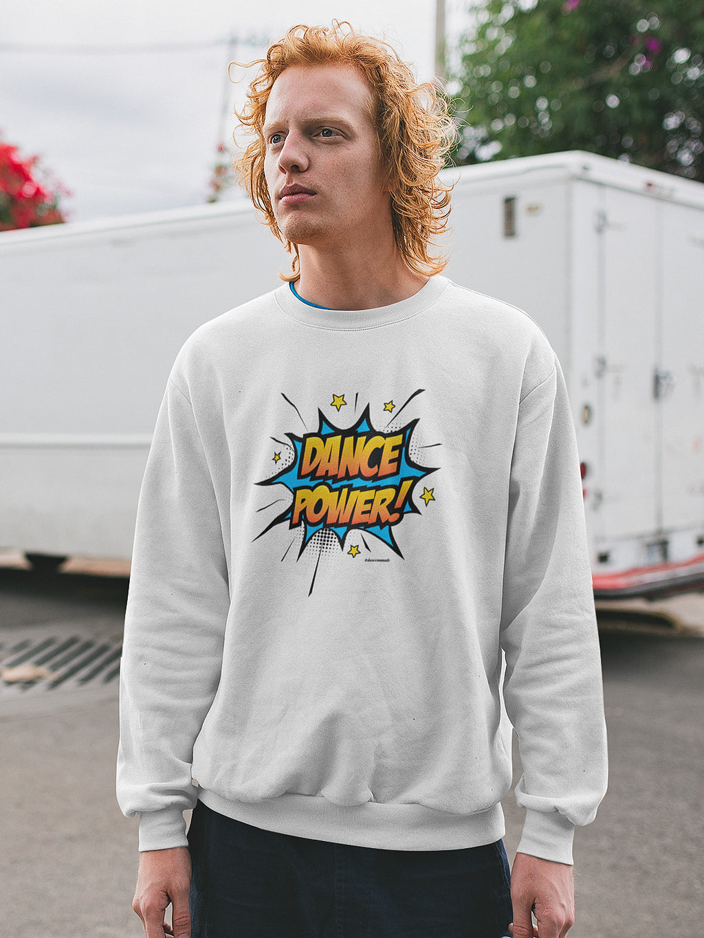 Dance Power Unisex Sweater White