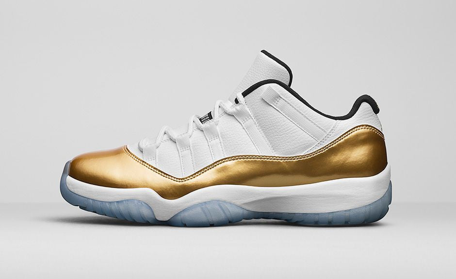 "Air Jordan 11 Retro Low ""White/Metallic Gold"" - Release Details"